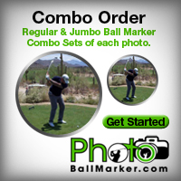Combo Ball Marker Sets - Jumbo and Regular From One Photo