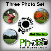 Personalized Golf Ball Marker - Set of Three Ball Markers